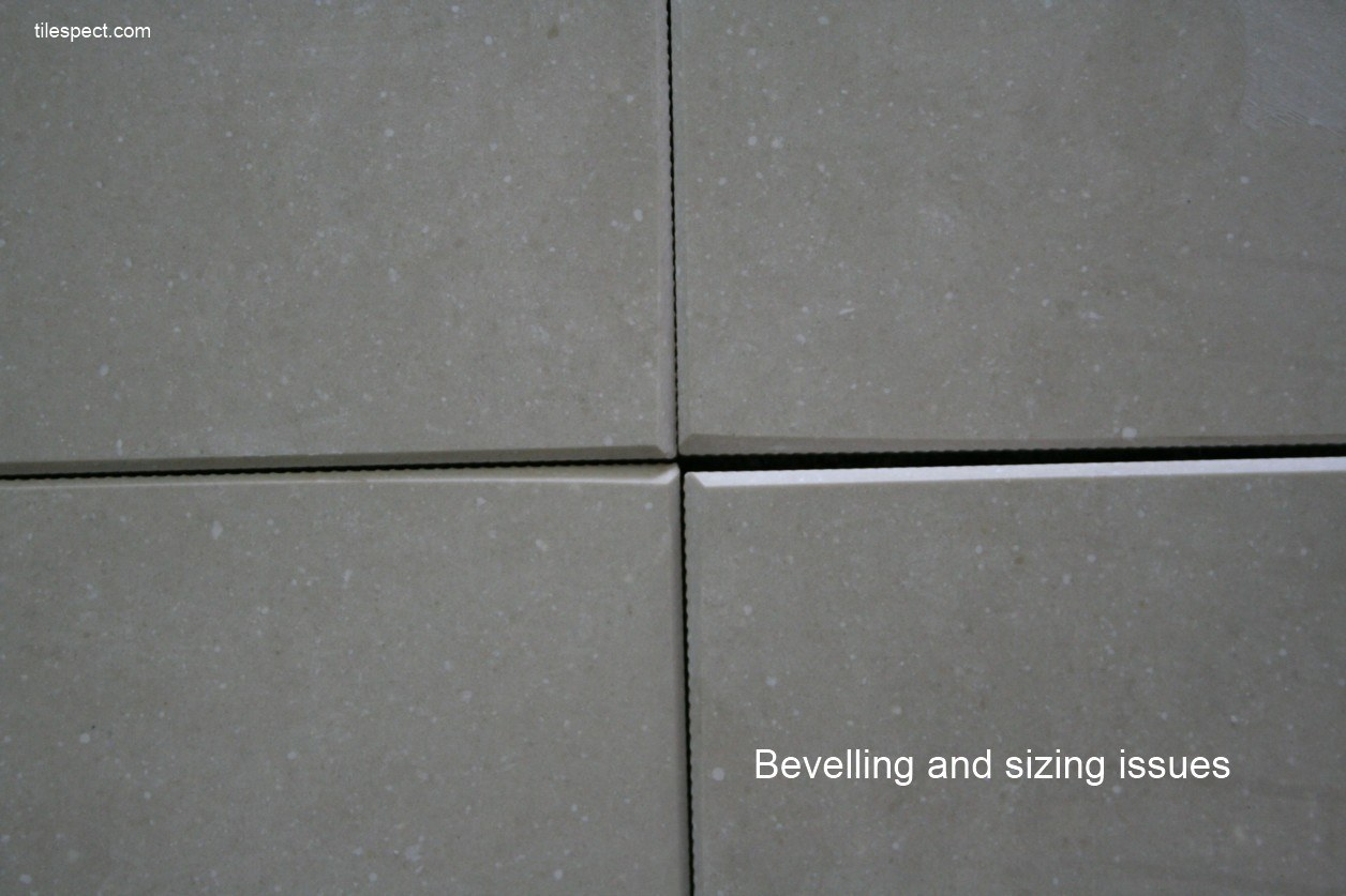 Rectified Porcelain Tile Bevelling And Squareness Defects
