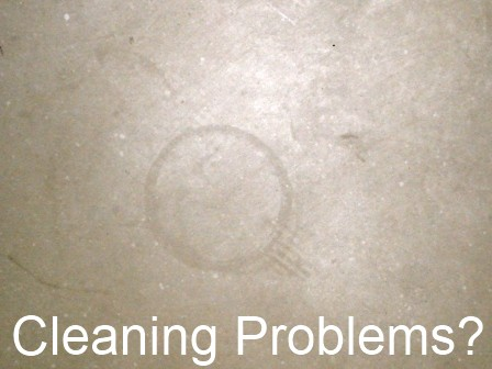 Example of indelible mark on porcelain tile