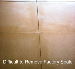 Example of rare, defective factory applied porcelain presealer
