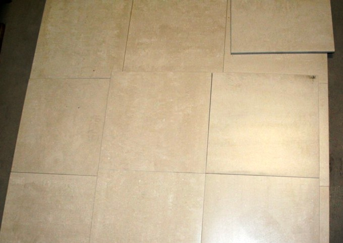 Panel of tiles with matching shades