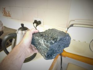 a lump of coal and my electric kettle